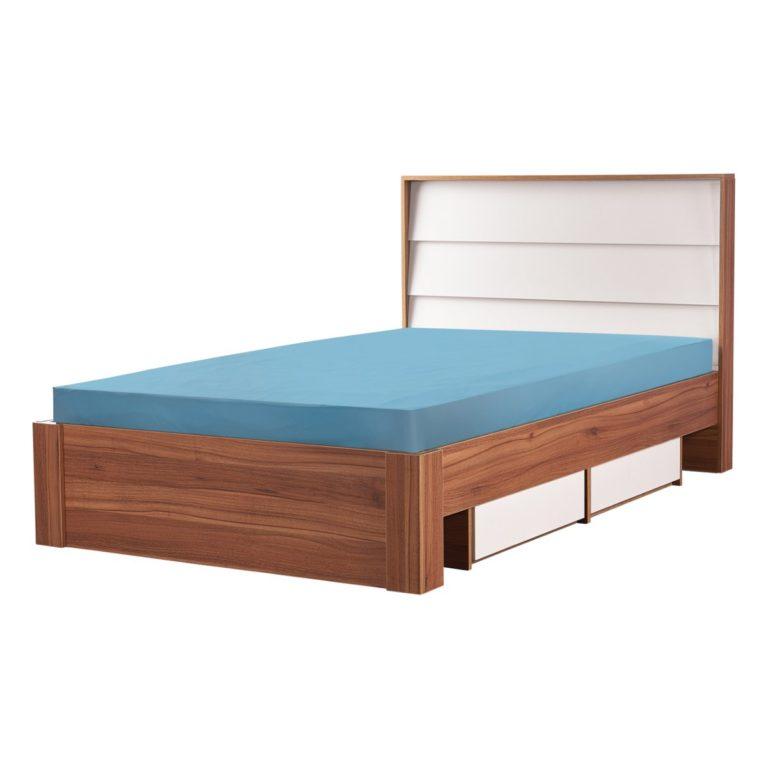 تخت یک نفره ۱۲۰ دو کشو آیدا-1