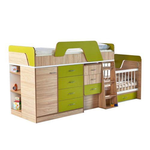تخت دو طبقه نوزاد به نوجوان و نوجوان توئیتی-1
